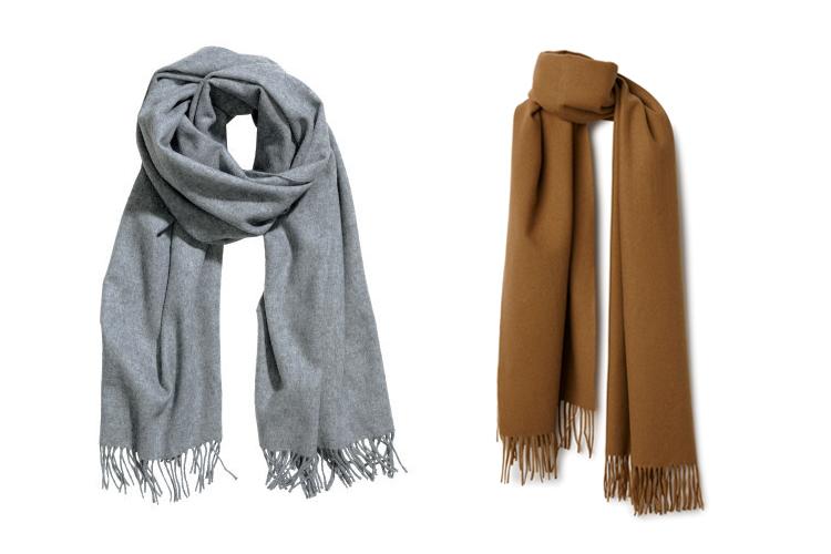 keeping warm wool scarves