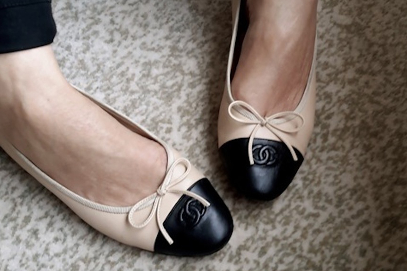 Long term wishlist Chanel two-tone ballet flats